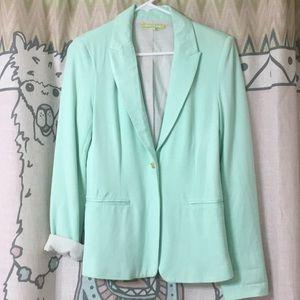 Gianni Bini Spring Green Super Soft TShirt Blazer